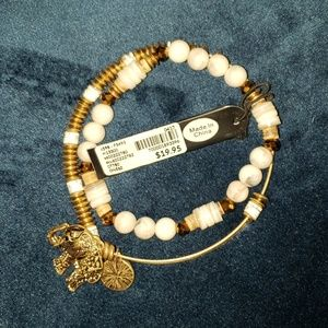 NWT Lane Bryant gold and white bracelets